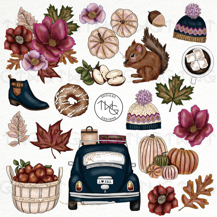 Collections, Evening Stroll Clip Art Collection - TWG Designs