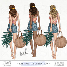 Load image into Gallery viewer, Fashion Illustrations, Leah - Fashion Illustration - TWG Designs