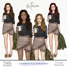 Load image into Gallery viewer, Fashion Illustrations, Victoria - Fashion Illustration - TWG Designs