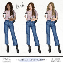 Load image into Gallery viewer, Fashion Illustrations, Karla - Fashion Illustration - TWG Designs