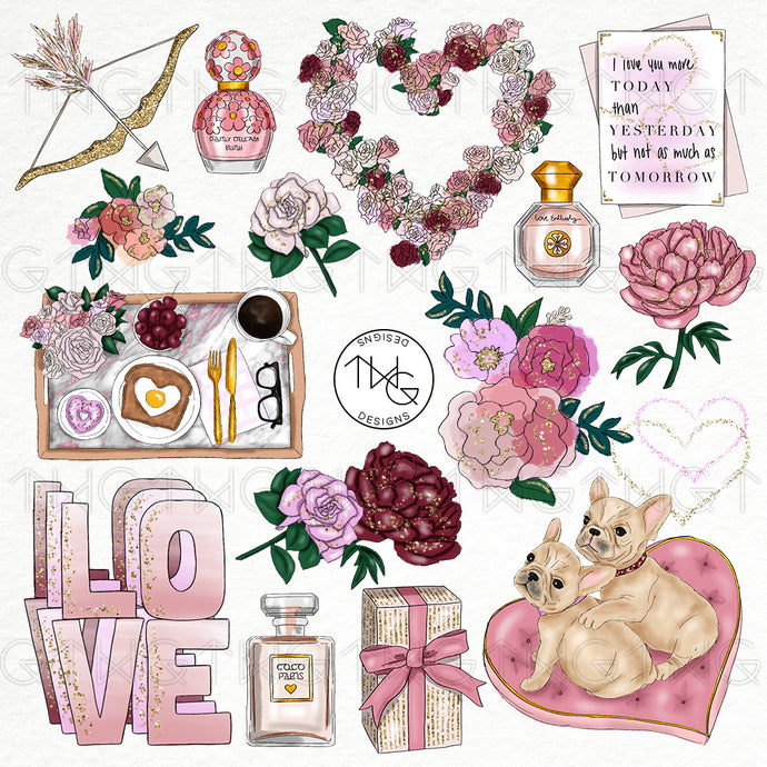 Collections, Stay In Love Clip Art Collection - TWG Designs