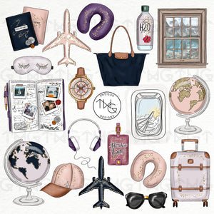 Collections, Wanderlust Clip Art Collection - TWG Designs