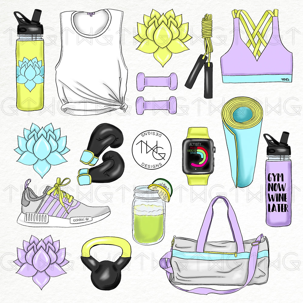 Collections, Fit Life Clip Art Collection - TWG Designs