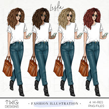 Load image into Gallery viewer, Fashion Illustrations, Leslie - Fashion Illustration - TWG Designs