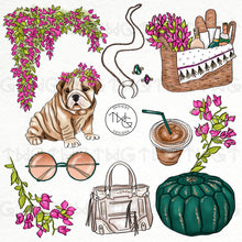 Load image into Gallery viewer, Collections, Bougainvillea Clip Art Collection - TWG Designs