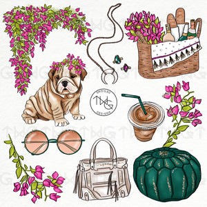 Collections, Bougainvillea Clip Art Collection - TWG Designs