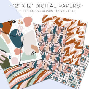 Digital Paper, Booked & Busy Digital Paper Set - TWG Designs
