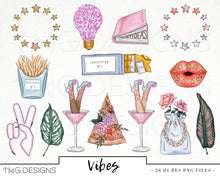 Load image into Gallery viewer, Collections, Vibes Clip Art Collection - TWG Designs