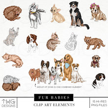 Load image into Gallery viewer, Themed Elements, Fur Babies Clip Art Bundle - TWG Designs