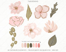 Load image into Gallery viewer, Design Elements, Fresh Florals Clip Art Elements - TWG Designs