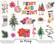 Load image into Gallery viewer, Collections, So Merry Clip Art Collection - TWG Designs