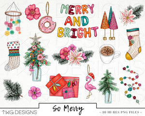 Collections, So Merry Clip Art Collection - TWG Designs