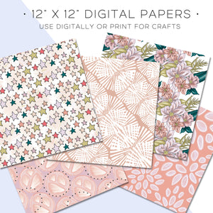 Digital Paper, Sunset Digital Paper Set - TWG Designs