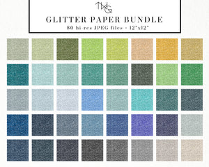 Design Elements, Glitter Paper Mega Bundle - TWG Designs