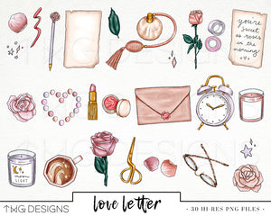 Collections, Love Letter Clip Art Collection - TWG Designs