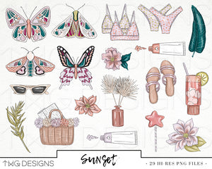 Collections, Sunset Clip Art Collection - TWG Designs