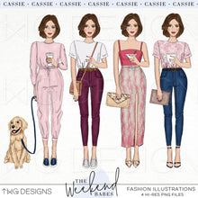Load image into Gallery viewer, Fashion Illustrations, The Weekend Babes - Fashion Illustrations - Set 2 - TWG Designs