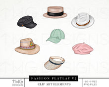 Load image into Gallery viewer, Themed Elements, Fashion Flatlay V2 Clip Art Bundle - TWG Designs