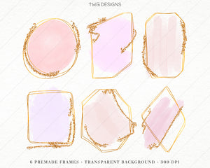 Design Elements, Pastel Frame Builder Kit - Clip Art Elements - TWG Designs
