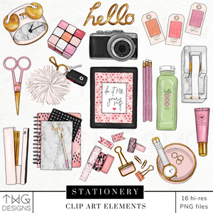 Stationery Clip Art Elements