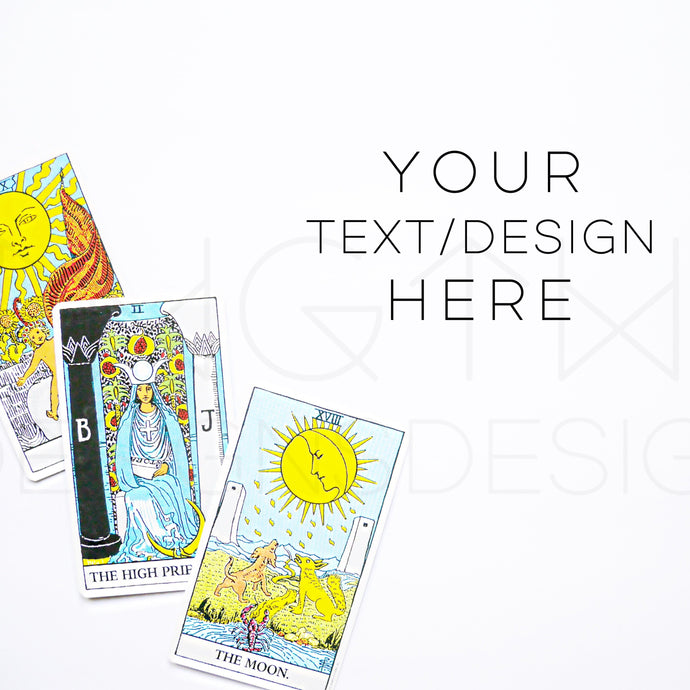 Tarot Cards Styled Stock Photo