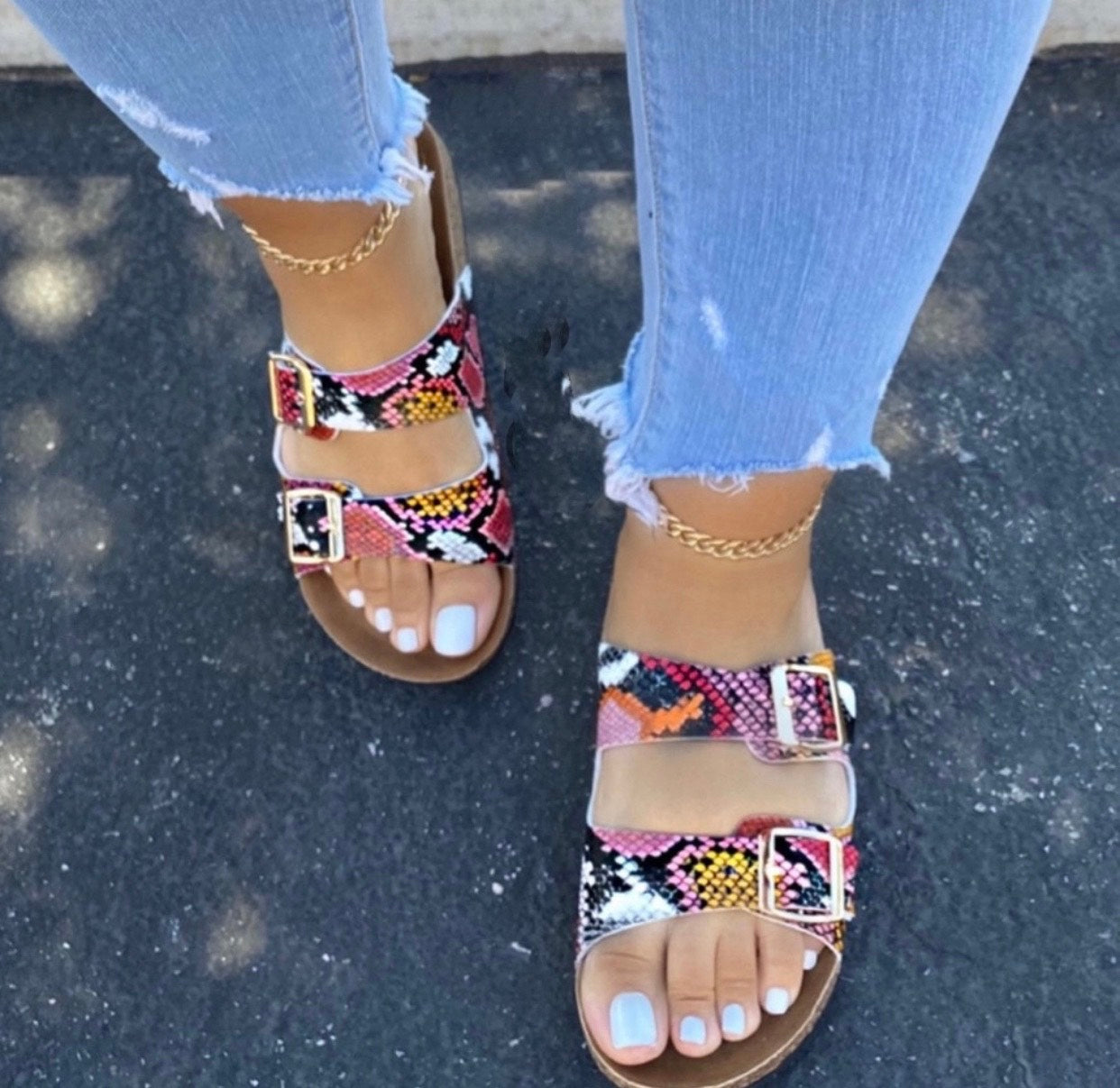 Red Foot Sandal