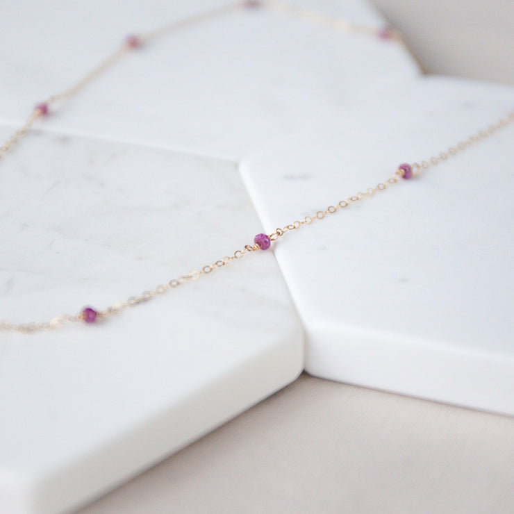 Classic Ruby Necklace