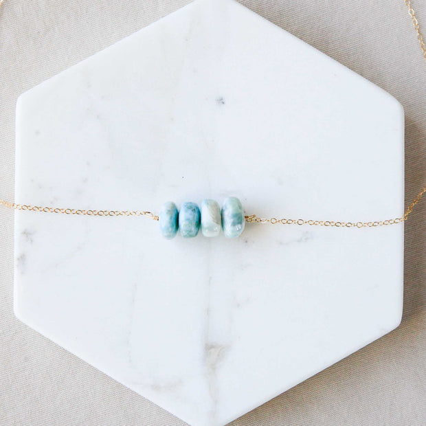 The Leah - Larimar Quadro Necklace