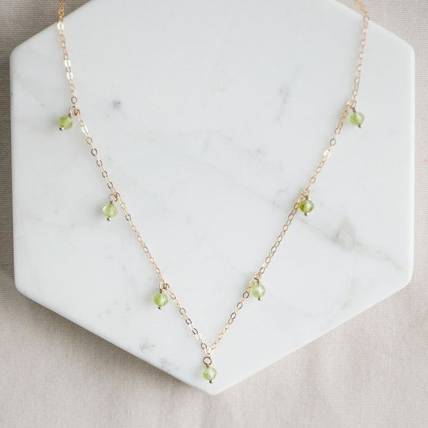 Peridot Stardust Necklace