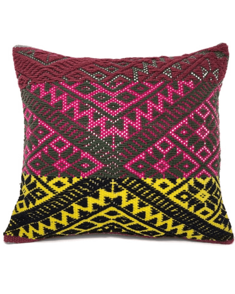 Qori Handwoven Pillow Cushion Cover-Peruvian Nuna