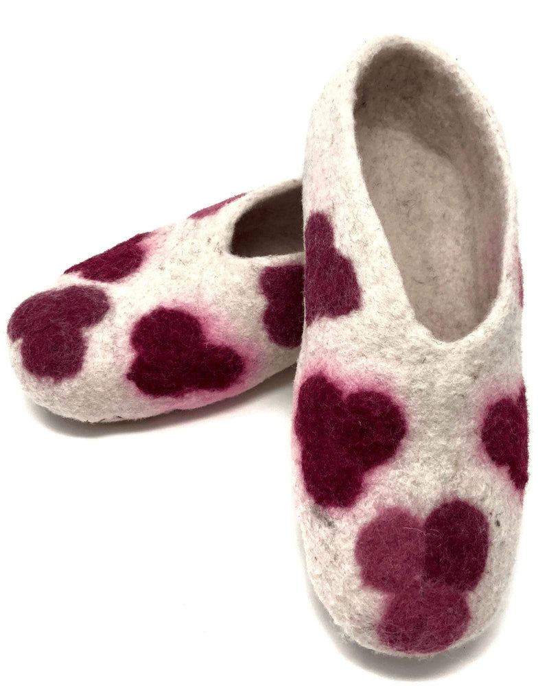 Load image into Gallery viewer, Illary Handmade Felted Wool Slippers - Size 7-Peruvian Nuna