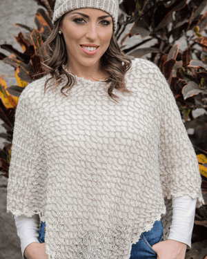 Load image into Gallery viewer, Chaska Handwoven Alpaca Wool Poncho-Peruvian Nuna