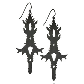 Rorschach Statement Earrings