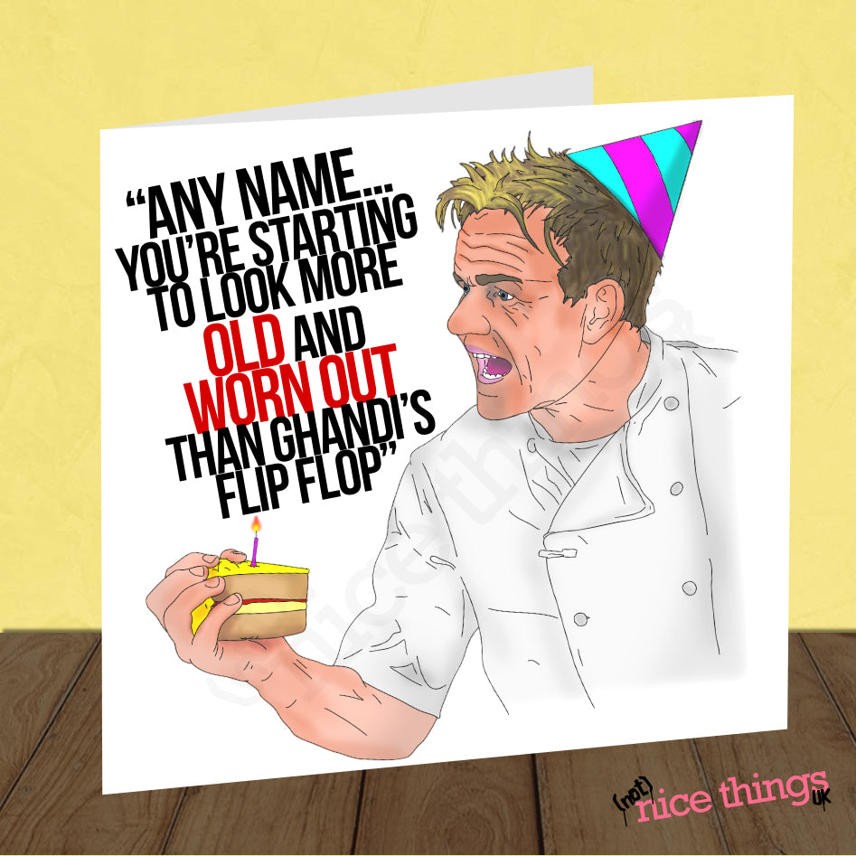 Personalised Offensive Gordon Ramsay Card
