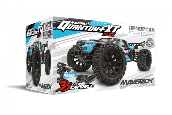 Maverick MV150300 Quantum+ XT Flux 3S Brushless Electric Truggy 1/10 4WD (Blue)