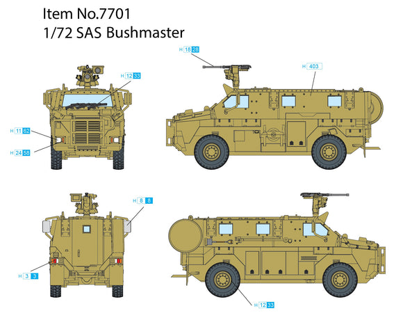 Dragon 7701 1/72 SAS Bushmaster Plastic Model Kit