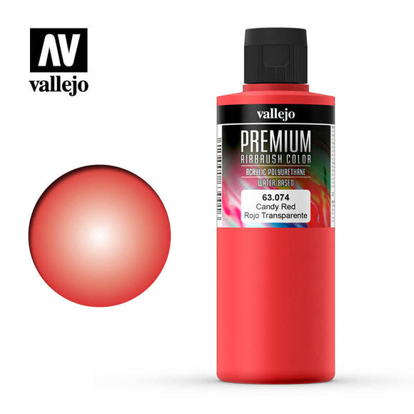 Vallejo 63074 Premium Color Candy Red 200 ml.