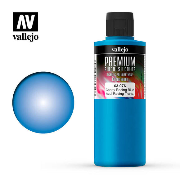 Vallejo 63076 Premium Color Candy Racing Blue 200 ml.
