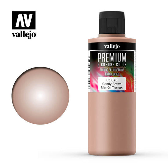 Vallejo 63078 Premium Color Candy Brown 200 ml.