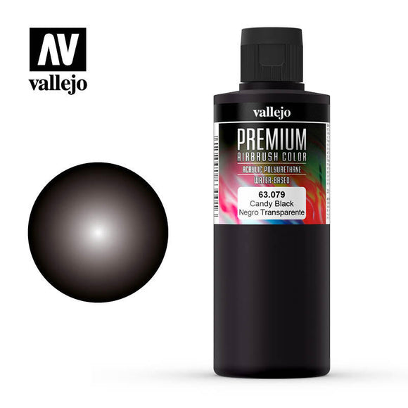 Vallejo 63079 Premium Color Candy Black 200 ml.