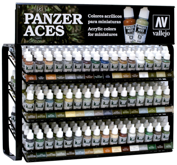 Vallejo EX703 Panzer Aces Complete Range Display (Stand Only)