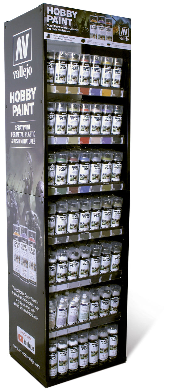 Vallejo EX716 Aerosol Hobby Paint-Spray Colors Display (Stand Only)