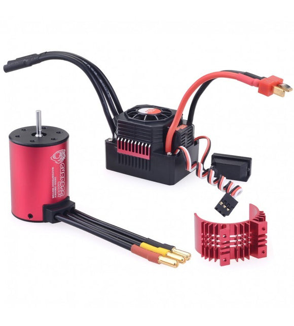 Surpass 79688 Surpass Hobby KK 3650 brushless motor with 60A ESC combo + Red heatsink 3100kv