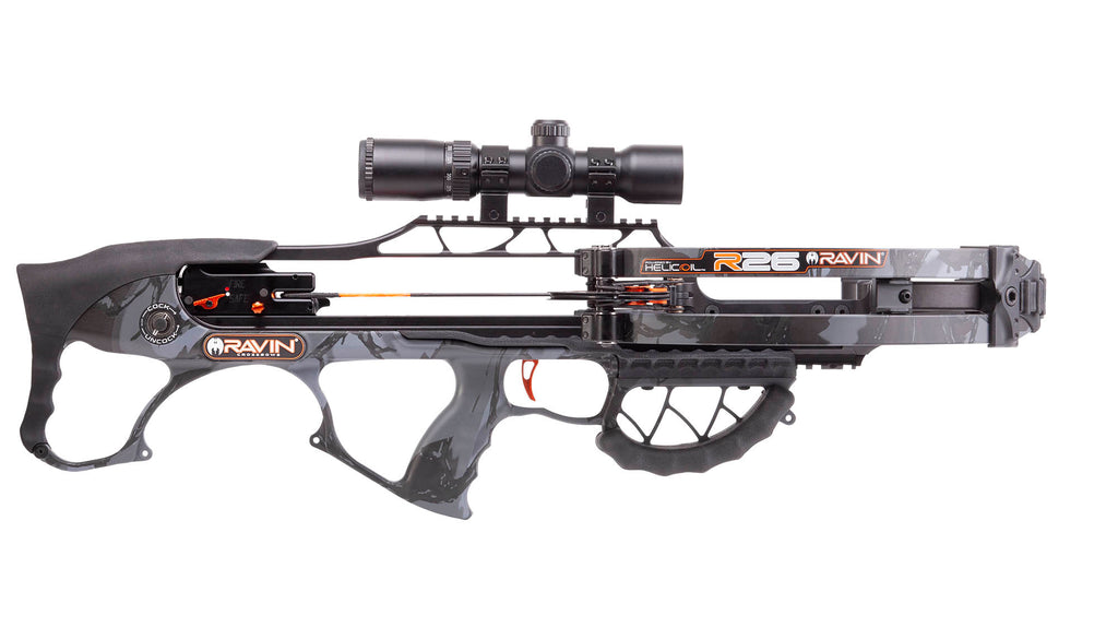 Ravin R26 Crossbow Package available at Kiigns Hunting.