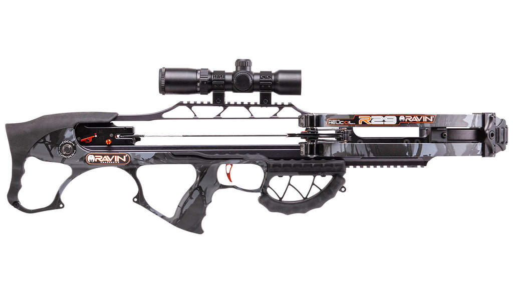 Ravin R29 Crossbow Package available from Kiigns Hunting.