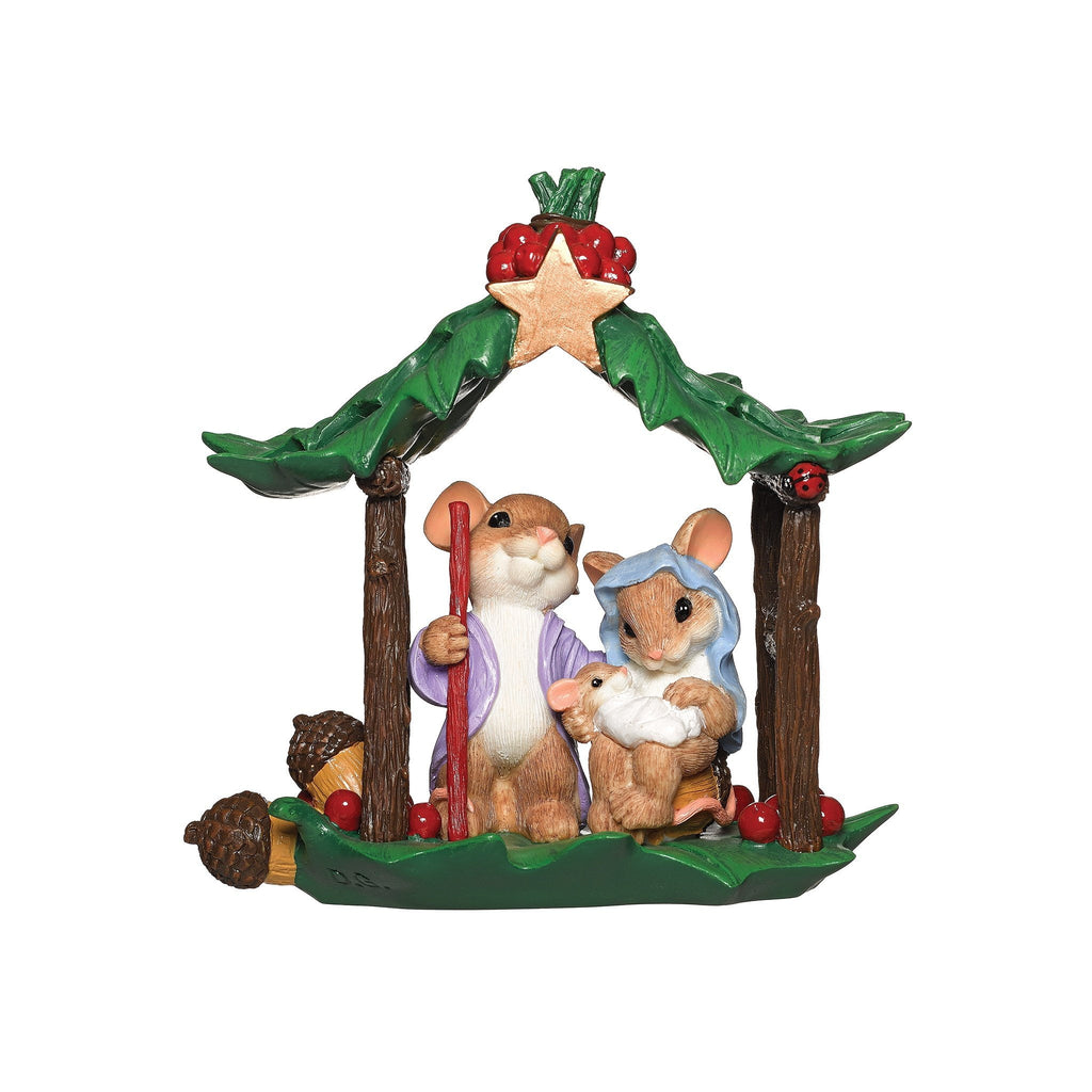 Charming Tails Mouse Nativity Christmas Decoration