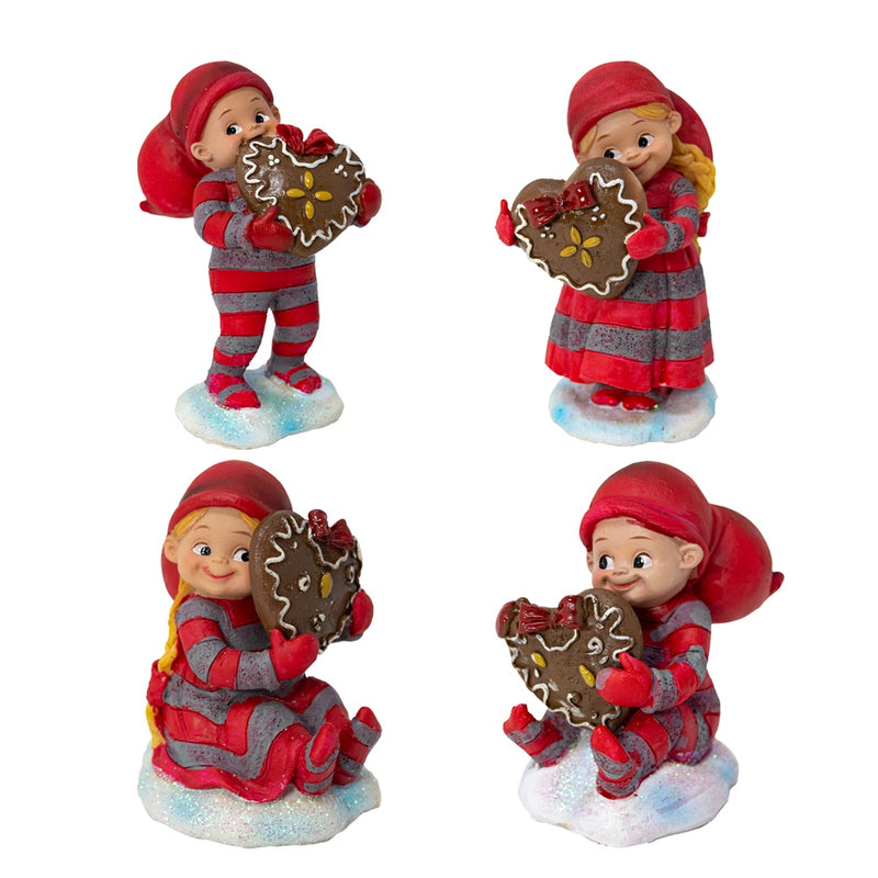 Baby Elf with Gingerbread Cookie - Choice of 4
