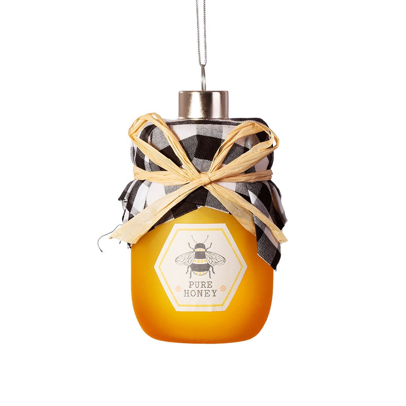 Glass Honey Jar Christmas Tree Decoration