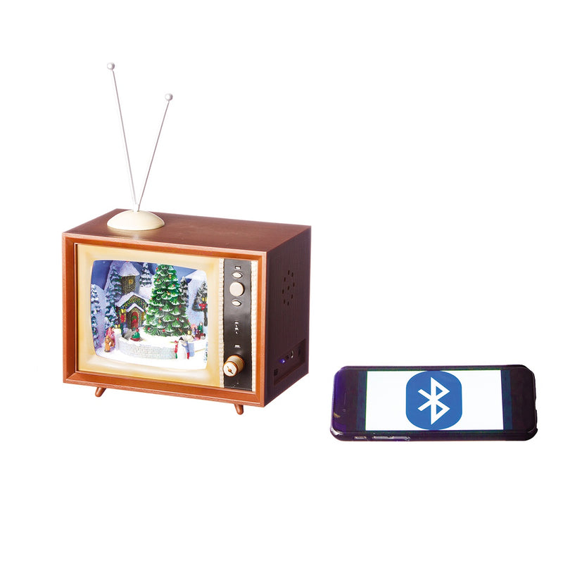 Bluetooth Musical Moving Television Christmas Scene