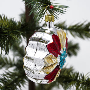 Multi Coloured Hand Blown Vintage Glass Christmas Baubles (Set of 6)